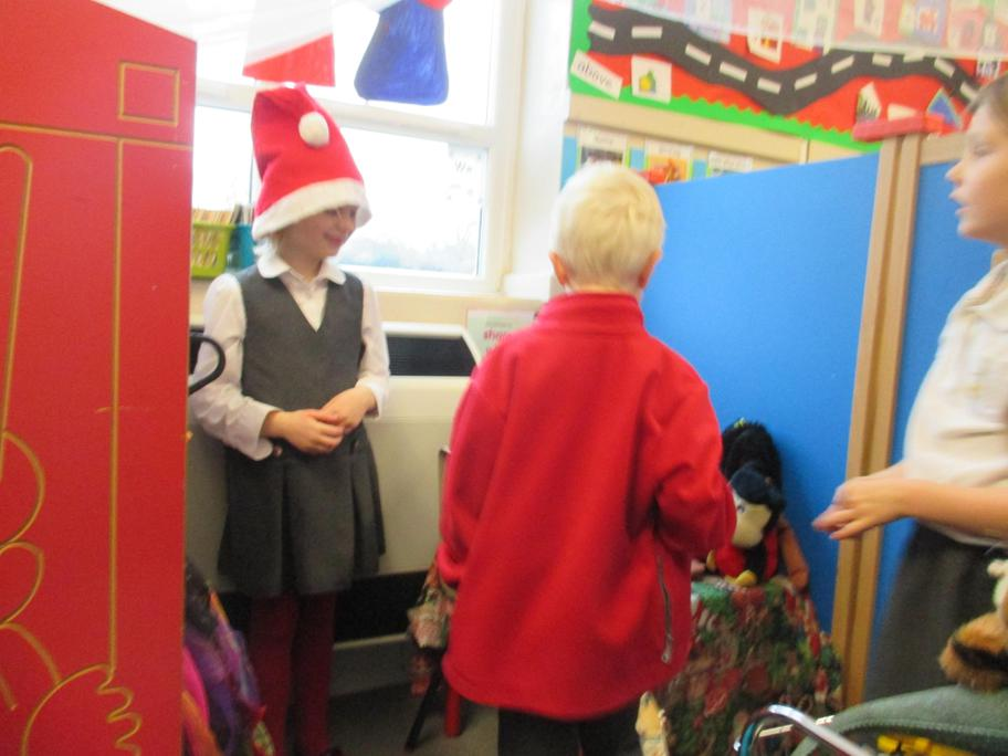 The children dress up as elves, toy makers & toys!