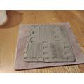 Kenzie's mark-making tile