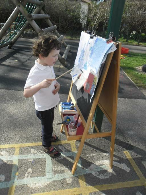 Painting an observational skyscape outside