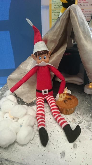 Eating Mrs Baker's muffin!