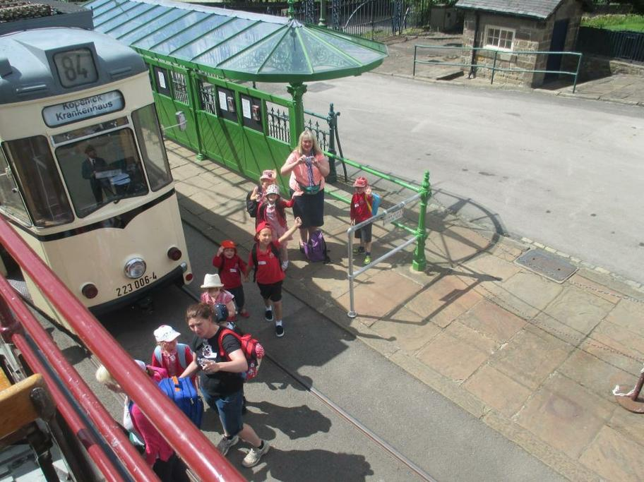 Our first tramride was on an opentop double decker