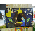 Oaks class Nativity display