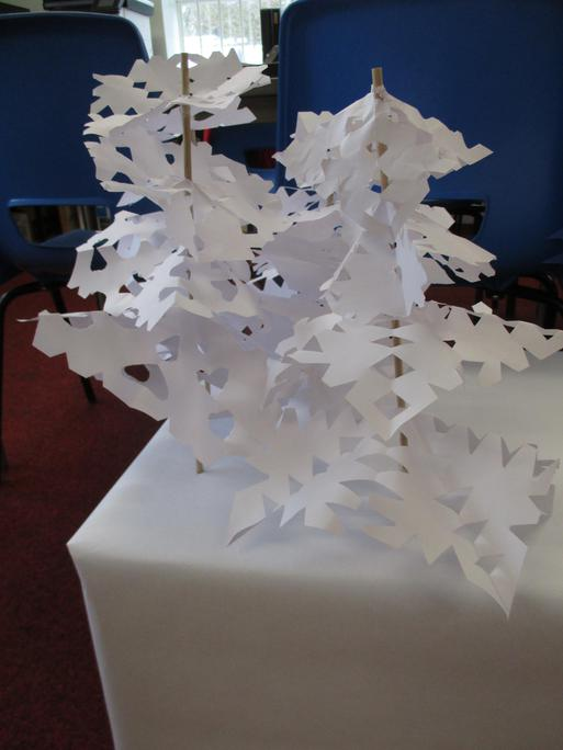 Using symmetry to make a snowy woodland