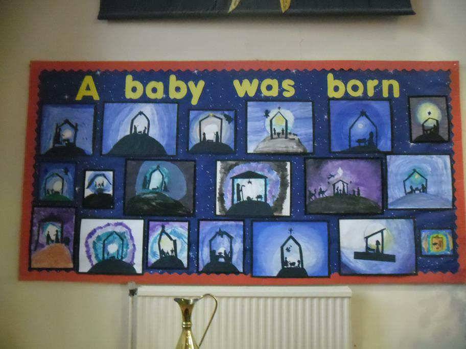 Sycamores art work in Church