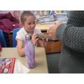Examining stone-age artifacts