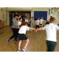 Learning a Tudor dance
