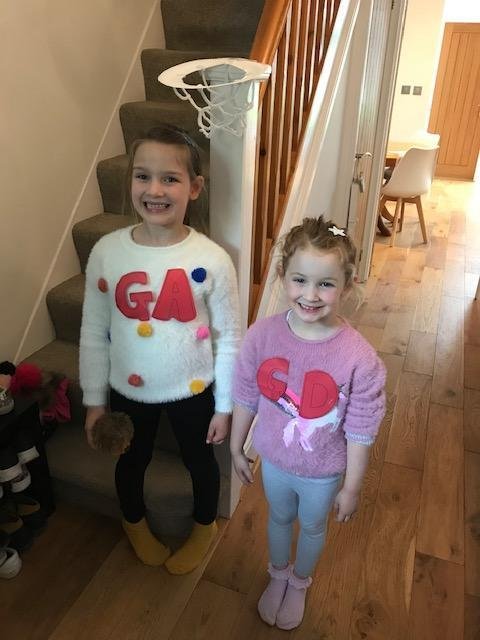 Bella and Isla enjoyed their netball session!