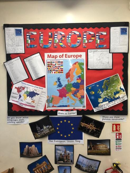 Year 3 have looked at the countries of Europe.