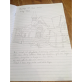 Amber's drawing of school and poem