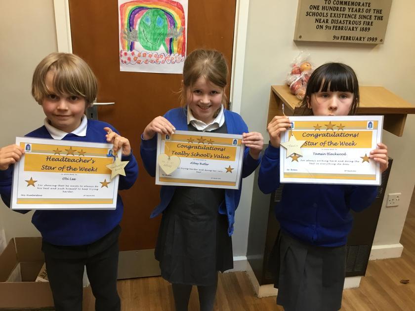 Obi wins Mrs Humberstone's star of the week.