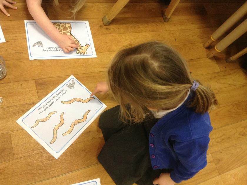 Matilda was measuring using paper clips.