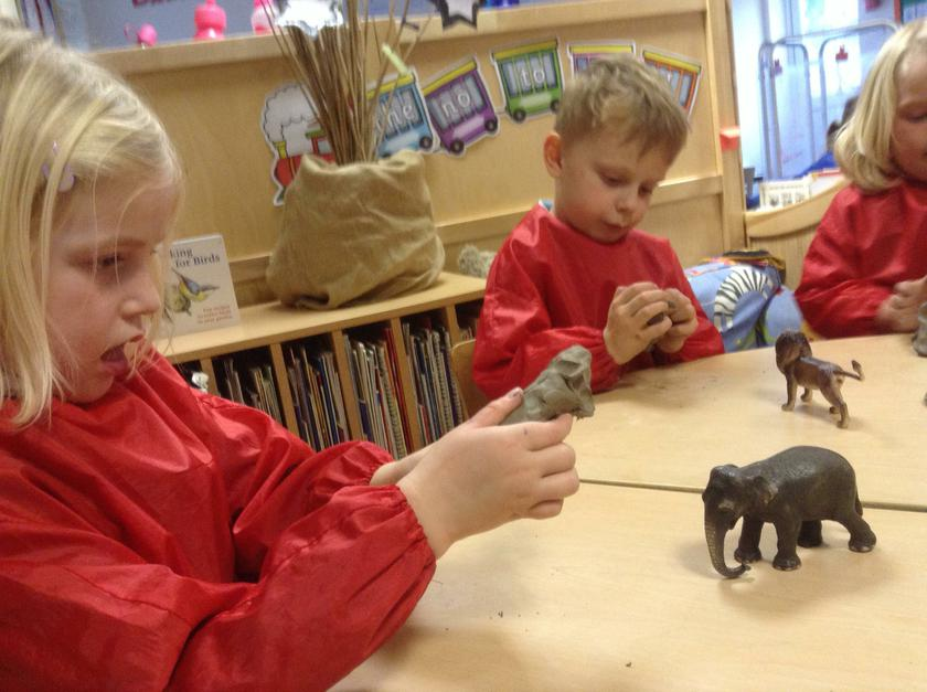 Clay modelling.