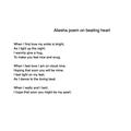 Aliesha's heart poem
