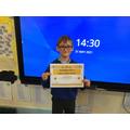 Conner wins a special head teacher's award.