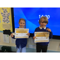 Ivy our star and Obi our inspirational value.
