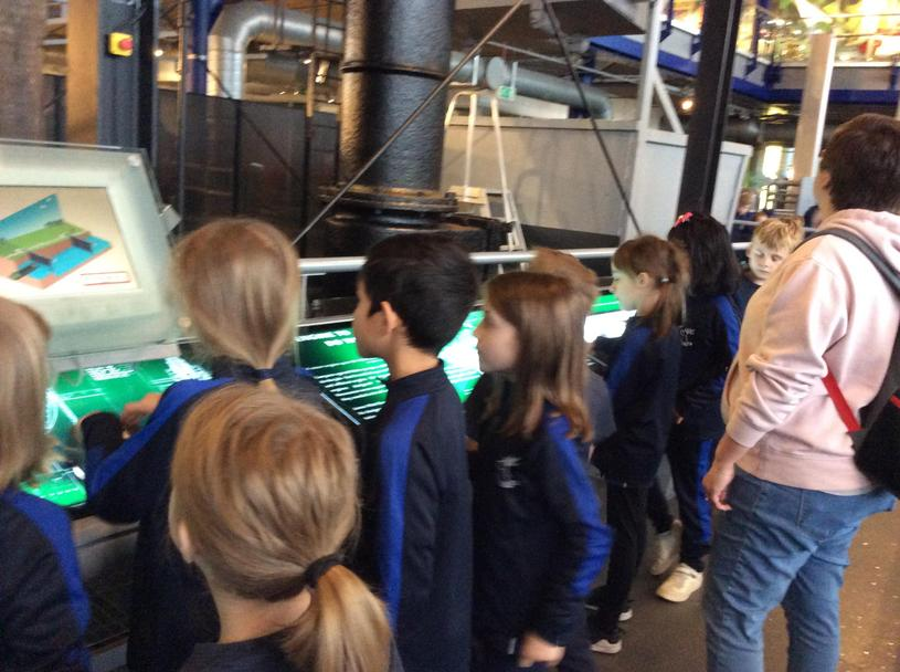 Children explored interactive displays