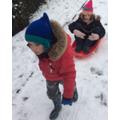 Carter had fun in the snow!