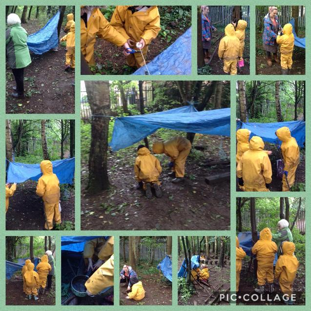 Visit from our Governors to our forest school.