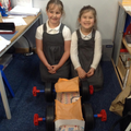 We worked together to make our car