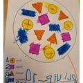 Olivia-Rose was able to match the shapes.