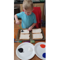 Hughie has been super busy with bread and paint!