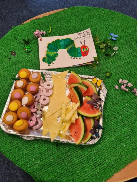 We had a hungry caterpillar tea-party.
