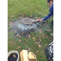 Year 4 fire session in forest school
