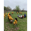 Cooking a healthy meal in Forest School