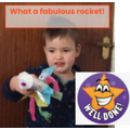 Carter has made a FABULOUS rocket!