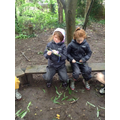 Year 3 Using the willow to make a dream catcher