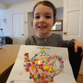 Olivia-Rose decorated a teapot just incase the tiger visits again!
