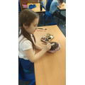 When our papier mache planets were dry, we painted them to look like planets we knew