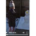 Jessica sang, I'm a little snowman too!