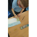 We developed skills in using paint and watercolour to create different effects.
