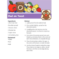 We followed a recipe- related to the owl in the story.