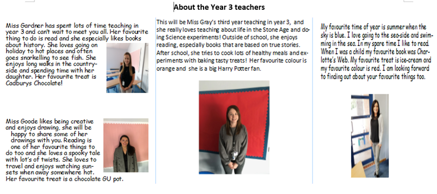 Here is a little bit about your teachers.