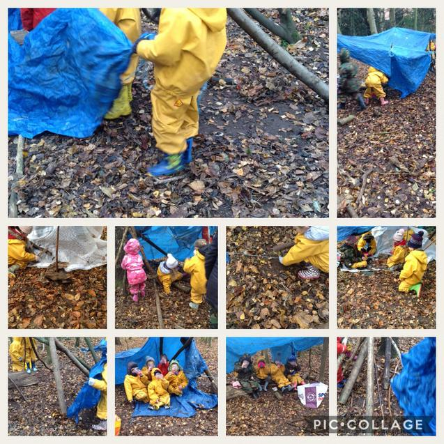 Using materials to create an Inuit shelter