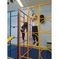 Year 5 had fun in the lockdown bubble creating gymnastics routines