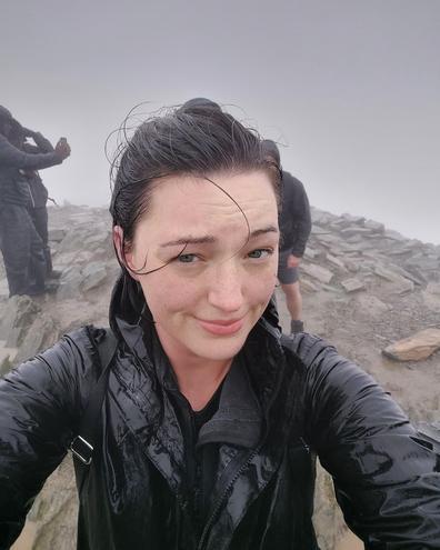Reaching the summit of Mount Snowdon!