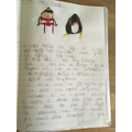 Theo's fantastic penguin writing