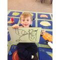 Edward showed me his fantastic shapes.