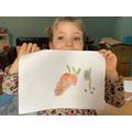 Imogen showing us her squiggle art for Mental Health Week!
