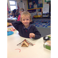Ted showing us his house for the Three Little Pigs