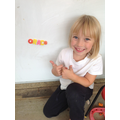 Grace built her name in magnets!