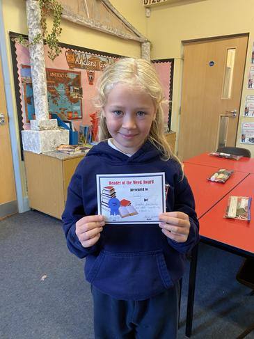 Lily is the reader of the week!!