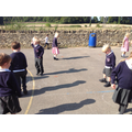 We took the opportunity of sunshine to learn about our shadows!