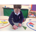 Working hard to sort out our shapes