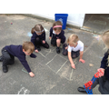 Drawing rectangles with chalk - our favourite