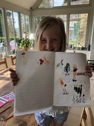 Tilia's fantastic Chicken Licken story map!