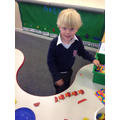 Toby loved creating his pattern